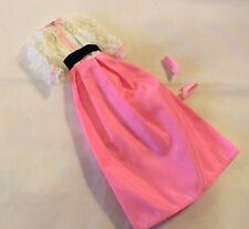 BARBIE DOLL PRETTY IN PINK DRESS LACE BODICE + SHOES