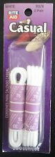 """2 Pair 30"""" Casual Round Shoelaces (White) R374 Shoe Lace Dress"""