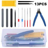 13X Modeler Basic Tools Crafts Set for Gundam Car Model Building Repair DIY Kit~