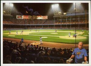 TIGER STADIUM NOCTURNE by Bill Purdom BILL GOFF Postcard 1991