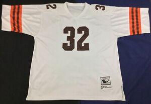 Vintage Cleveland Browns Jim Brown #32 Football-NFL Mitchell & Ness Jersey Sz56