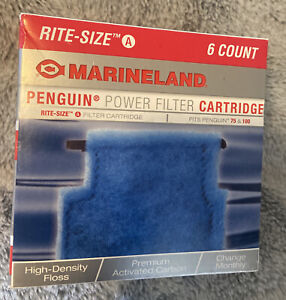 Marineland Penguin Rite-Size A Filter Cartridge Count of 6 NEW