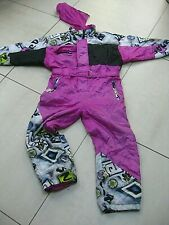 ETIREL girls kids one piece Ski Suit size 7 8 years  retro vintage festival snow