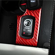 Carbon Fiber Sticker For Chevrolet Corvette C6 2005-2007 Switch panel Decal Red
