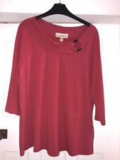 ANN HARVEY 3/4 SLEEVE ANTIQUE ROSE ROUND NECK WITH DETAIL SIZE 16