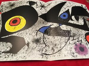 Joan Miró, Original Lithograph, 1976 Printed In Italy By Amilcare Pizzi