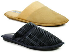 NEW BOYS MENS SLIPPERS SLIP ONS SHOES FAUX FUR MULES COMFORTABLE SOFT Size 6-12