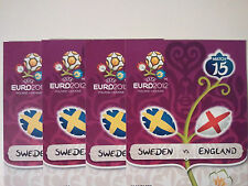 EURO 2012 GROUP D SWEDEN vs ENGLAND, 4 TICKETS CATEGORY 3, JUNE 15, 2012