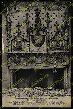 Reims palais tu tau königsaal BLASON NOBLESSE cheminée dommages de guerre bombardement 1914