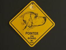 Pointer On Board Dog Breed Yellow Car Swing Sign Gift