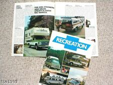 1976 Chevy RECREATION RV Guide / Brochure with Spec's: PickUp,SUBURBAN,Camper,