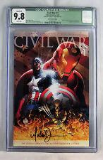 Civil War 1 9.8 NMMT CGC Aspen Variant Signed Michael Turner w COA Marvel Comic