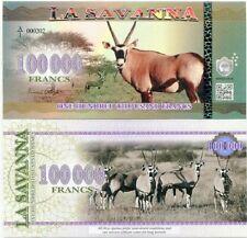 LA SAVANNA 100000 FRANCS 2016 BANKNOTE UNC ORYX