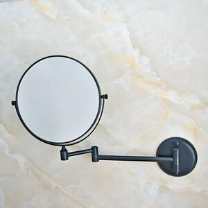 """Oil Rubbed Bronze 8"""" Wall Mounted Swing Arm 2-Sided Magnifying Mirror sba634"""