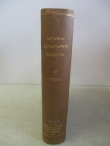 VINTAGE NATIONAL GEOGRAPHIC MAGAZINE BOUND VOLUME 16 1905 MAPS OF THE PANAMA ECT