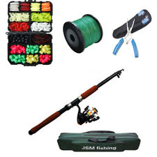 2.4M Fishing Rod&Reel Combo Set With Fishing Bags PE Plier Brained Line And Lure