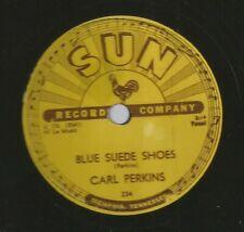ROCKABILLY 78 - CARL PERKINS - BLUE SUEDE SHOES  -HEAR - 1956 SUN 234