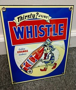 Whistle Soda Pop soft drink sign