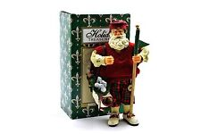 Holiday Treasures Golfing Golfer Santa Claus Figurine