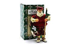 Holiday Treasures Golfing Golfer Santa Claus Figurine