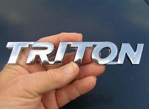 MITSUBISHI TRITON BADGE Chrome Plastic Script 165mm Car Truck Emblem Pickup
