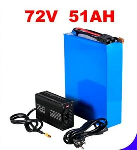 Lithium Ion Li-ion Battery 72V 50AH Rechargeable Electric E Bike Bicycle Scooter