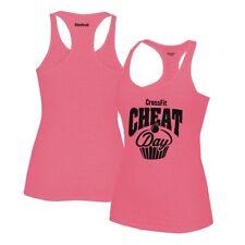 "Reebok CrossFit ""Cheat Day"" Graphic Women's Pink Burnout Tank Top"