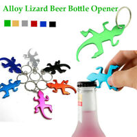 Lizard Shape Alloy Bottle Opener Keyring Keychain Multifunction g