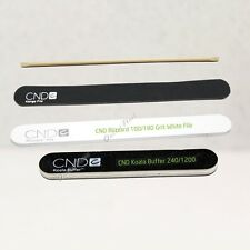 CND SHELLAC Essentials Nail Tools > File Grit, Buffer, Orange Wood Stick Cuticle