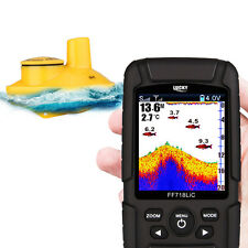 Lucky Wireless Color Screen Sonar Smart Fish Finder W/Alarm LCD Display Fishing