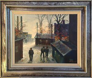 Allan Karms (1933): STREET SCENE, INDUSTRIAL LANDSCAPE