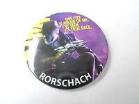 VINTAGE PINBACK BUTTON #74-005 - WATCHMEN MOVIE - RORSCHACH