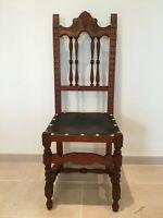 5 X Spanish Baroque Antique 19th Century chairs