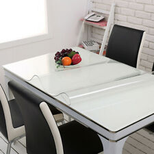 PVC Transparent Tablecloth Waterproof Clear Dining Table Cover Protector 23x46""