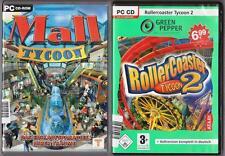 Mall Tycoon construya su mundo de compra + RollerCoaster Tycoon 2 montaña rusa PC