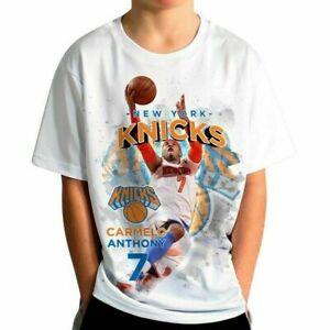 New York Knicks Vintage Carmelo Anthony T-Shirt Funny white Cotton Tee Gift Men