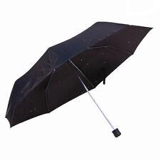 Nouveau mini-parapluie pour hommes & femmes super mini compact pliable sac à main uk noir