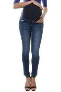 Maternity Pregnancy Jeans Over Bump Skinny Slim Straight Leg Denim Pants 6 to 22
