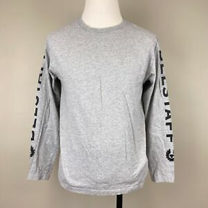 Belstaff Logo Grey Long Sleeve T-shirt Size Large