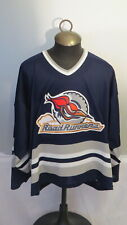 Edmonton Road Runners Jersey (AHL) - Away Blue Jersey - Men's Extra Large (Rare)