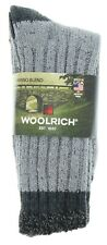 Men's Socks Woolrich Two Pairs Size Large Red Marled Gray Merino Wool Blend