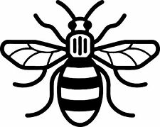 Manchester Bee Decal x2 in Black, other colours are available.