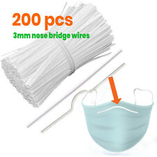 [200 PCS] Nose Bridge Wire Strip Adjustable Nose Bracket DIY Face Mask Sewing