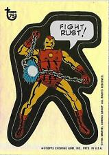 2013 Topps 75th Anniversary Foil #64 Comic Book Hereos Sticker Iron Man > 1974