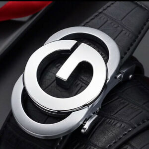 MENS DESIGNER BELTS LETTER G FOR GOLF 35MM AUTOMATIC LEATHER BELT LUXURY UK LTD