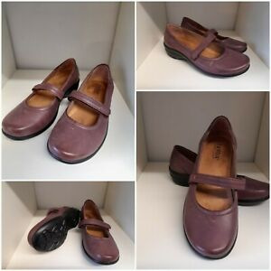 Hotter Adorn Brown Leather Mary Jane Shoes Size 3 Standard