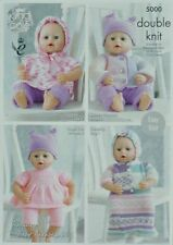 King Cole Chunky and Double Knitting Pattern 5000