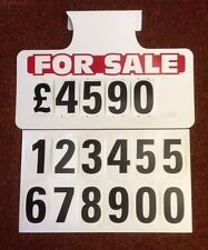 5 X For Sale Visor Price Sets, Car For Sale Signs, Boards, Sale Signs, Cars Vans