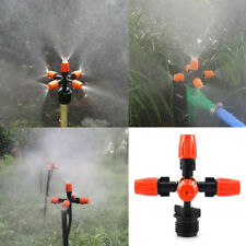 "Garden Sprinkler Irrigation Mist Fog 5-head Nozzle Spray 1/2 "" Mounting Adapter"