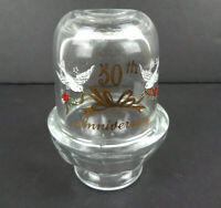 Viking USA Clear Glass 50th Anniversary Candle Holder Fairy Lamp